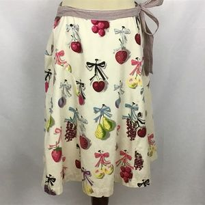 Elevenses Fruit Print A-line Lined Retro Skirt 6